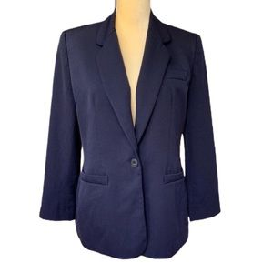 Lands End Women's Blue Wool Blazer Sz 10 petite